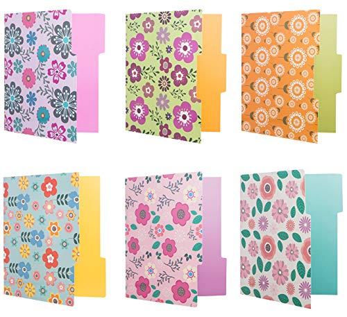 12 Cute File Folders -Floral File Folders & Colored File Folders in Vibrant Colors -Decorative File Folders -Pretty File Folders- 300 gsm Thick, Letter Size File Folders - 9.5 x 11.5 inch (Pack of 12) Photo #3