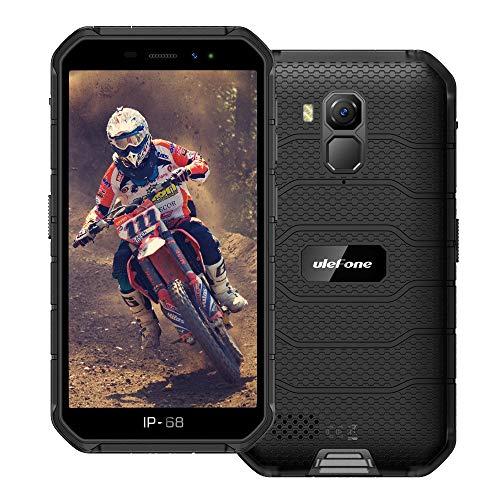 Ulefone Armor X7 PRO (2020) 4G Android 10 Outdoor Handy Smartphones, 32GB Speicher 4GB RAM 4000mAh Akku Smart Button wasserdichte Kamera, WiFi GPS FM Schwarz