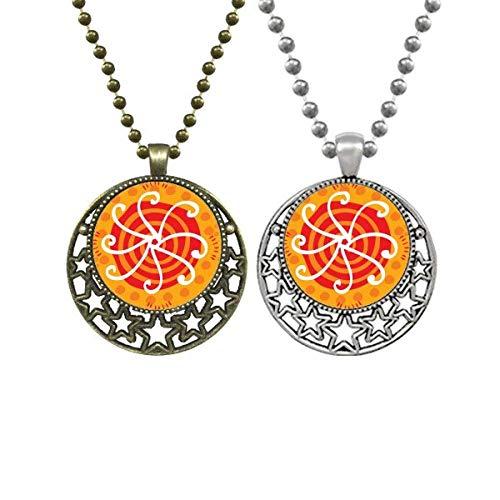 Sunshine México Tótems Ancient Civilization Lovers Collares Colgante Retro Luna Estrellas Joyería