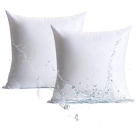 Amazon Com Foamily Premium Outdoor Mold Resistant Hypoallergenic European Sleep Pillow Insert Euro Sham Square Form Polyester 26 L X 26 W Standard White Garden Outdoor