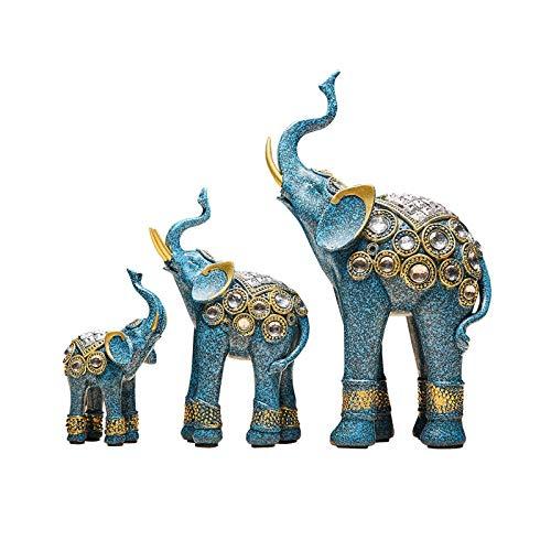 Decoraciones Light Luxury Elephant Decoración porche Gabinete de vino Sala de estar Resina Elefantes Estatua Estatua Animal Oficina Feng Shui Decor Collection Domainward Regalo Decoración de escritori