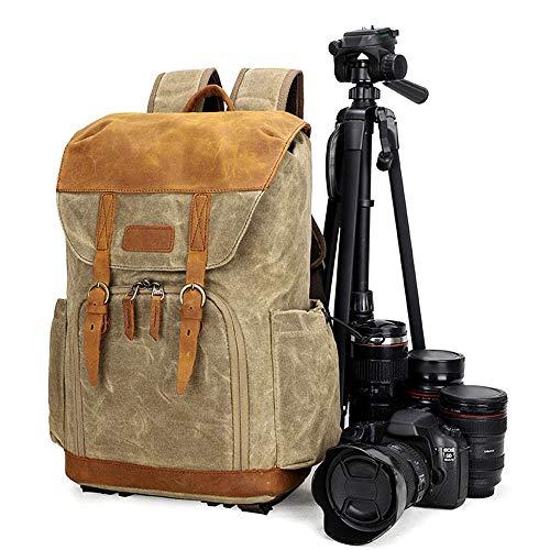 MxZas Mochila grande para cámara réflex digital, ligera, de tipo rápido, para ocio, viajes, gran capacidad (color: marrón, tamaño: 43 x 17 x 32 cm)