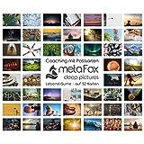 metaFox - LEBENSTRÄUME - Karten-Set der besonderen Art, mit 52 Karten - Kartenset Konversation Spiel Achtsamkeit Coaching Tool Motivationskarten Gefühlskarten Kommunikationstraining