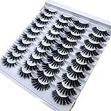 HBZGTLAD 20 pairs 3D Mink Lashes Natural False Eyelashes Dramatic Volume Fake Lashes Makeup Eyelash Extension Silk Eyelashes(003)
