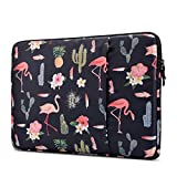 Lamyba Protective Laptop Sleeve for 15.6 Inch Acer Aspire E 15 and HP | Dell | Asus | Thinkpad | Samsung Chromebook Notebook, Shockproof Spill-Resistant Laptop Bag, Flamingo