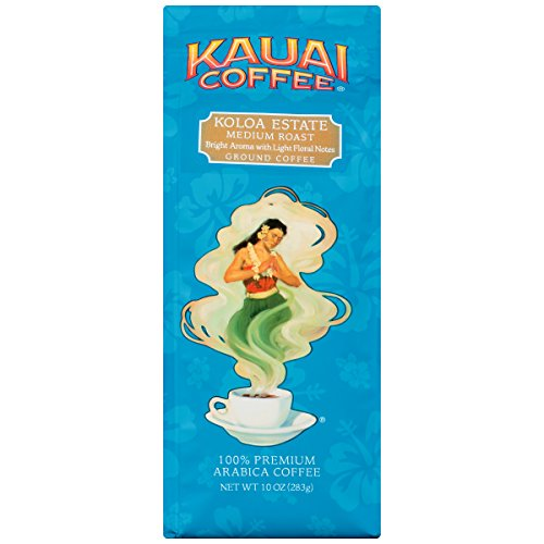 Kauai Coffee Medium Roast Ground, 10 Ounce