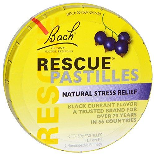 Bach Flower Essences Rescue Remedy Pastilles, Black Currant, 50 Grams