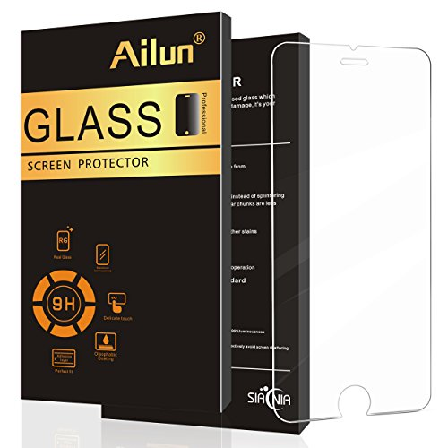 Ailun Screen Protector Compatible iPhone 6 Plus iPhone 6s Plus Screen Protector Tempered Glass 9H Hardness 2.5D Edge Anti Scratch Case Friendy Siania Retail Package