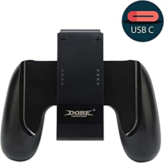 Defway Joy Con Charging Grip, Ergo Comfort Joycon Grip for Nintendo Switch Joy-Con Controllers, Portable Joycon Charger Dock with 79in USB-C Cable and Battery Indicators, High Speed Charge While Play