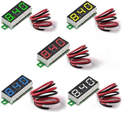 MakerHawk Digital DC Voltmeter 5 stücke Mini 0,28 Zoll Zwei-draht 2,5 V-30 V Mini Digital DC Voltmeter Spannungsprüfer Meter 5 Farben