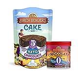Birch Benders Keto Chocolate Cake Mix,10.9oz and Keto Chocolate Frosting, 10oz, Bundle (1 baking mix...