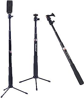 Smatree Q3 Palo Selfie Stick con Trípode para GoPro Hero 2018 Hero 8/7/6/5/4/3+/3/2/1/Fusion/Session Ricoh Theta S/V M15 Cámaras Compactas y Teléfonos Móviles