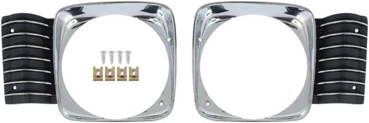 OER 16119 Headlight Bezel Set 1968 SEAL限定商品 Chevy Standard Nova II 定番キャンバス