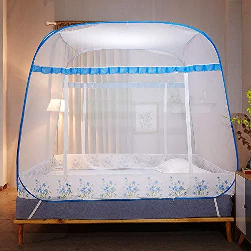 GANG Anti Mosquito Redes Pop Up Mosquito Net Bed Tienda con la Parte Inferior 200 (L) 180 (W) 170 (H) Mosquito S Portátil Plegable para Niños Pequeños para Niños Adultos Fácil insta
