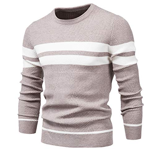 Otoño Pullover Hombres Suéter O-Cuello Manga Larga Delgado Suéteres Hombres Casual Suéter Hombres Ropa