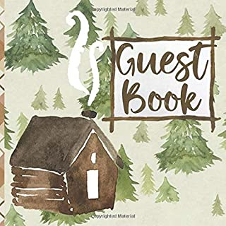 Guest Book: Mountain Cabin Guest Log Notebook for Guest House Vacation Rental Lodge (GB 8.5