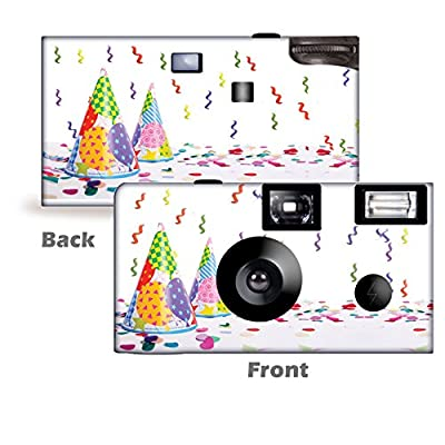 5 Happy Birthday Disposable Cameras, Single use, Party by CustomCameraCollection