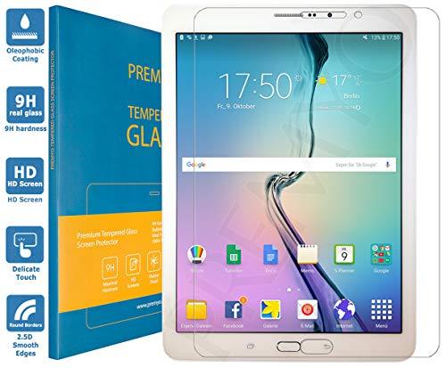 PREMYO Pellicola Vetro Temperato Compatibile con Samsung Galaxy Tab S2 8.0 LTE Protezione Schermo Durezza 9H Bordi 2,5D Anti-Graffi Bolle Impronte