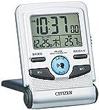 CITIZEN シチズン 目覚まし時計 電波時計 音声アラーム付き トラベルクロック パルデジットガイド 8RZ109-019