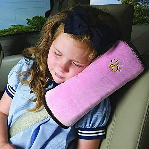 HCJGZ Cinturón de Seguridad de Seguridad de bebé Cinturón de cinturón de cinturón de Hombro Cubierta de Hombro Protección Infantil Soporte de Almohadas de Almohadas de automóviles,Rosado