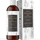 Therapeutic Sensual Massage Oil for Couples - Natural Massage Oils for Massage Therapy with Moisturizing Body Oil Formula Made with Relaxing Aromatherapy Oils Infused with Sweet Almond Oil for Skin