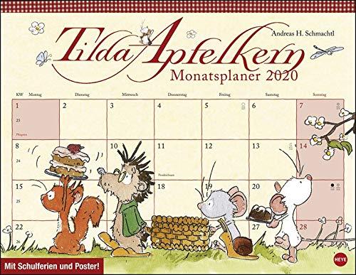 Tilda Apfelkern Monatsplaner 2020. Wandkalender 2020. Monatskalendarium. Spiralbindung. Format 44 x 34 cm
