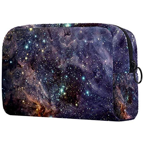 Cosmetic Bag Travel Toiletry for Women Daily Portable Zipper Closure Makeup Bag,The Omega Nebula