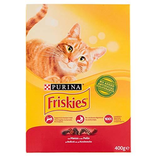 Friskies - Alimento Completo para Gatos Adultos, con Ternera, Pollo y hígado añadido, 400 g