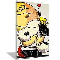 スヌーピーポスター子供部屋デコレーションポスターカラーボーイズオフィスデコレーションウォールアートピクチャープリント50x70cm(20x28inch)内枠ポスターd