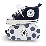 Babycute - Zapatillas de lona para bebé con suela suave y cordones, informales,...