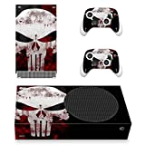 Xbox Series S Punisher Skull Skin, Decal, Vinyl, Sticker, Faceplate - Console and 2 Controllers -...
