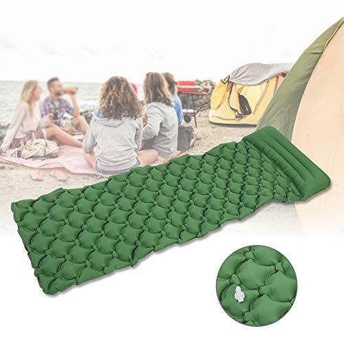AYNEFY Camping Matte, aufblasbare Schlafmatte mit Kissen, Ultraleicht, wasserdichte Schlafunterlage, kompakte Luftmatte, selbstaufblasende Matten für Outdoor-Wandern Reisen, grün