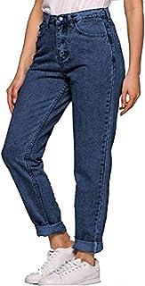 Pinspark Beauty Jeans para Mujer de Cintura Alta Pantalones Largos Blue Jeans Pantalones Casuales Rectos Jeans Suaves