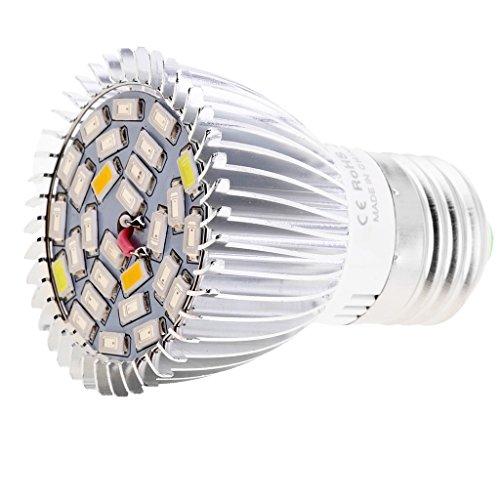 Sharplace Pflanzenlampe, Pflanzenbeleuchtung Led Wachsen Licht LED Birne Wachstum Zimmerpflanzen Pflanzenlichte - 28W Vollspektrum, E27