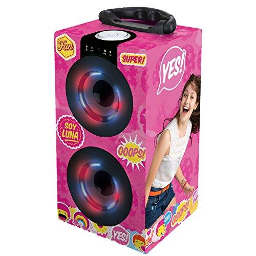 Soy Luna - Torre Sonido Portátil con Altavoces Luminosos, Bluetooth, Puertos USB/SD / MP3, batería Recargable, Color Rosa (BT600SL)