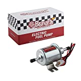 Bravex Universal 12V Low Pressure 2.5-4 PSI Gas Diesel Inline Electric Fuel Pump