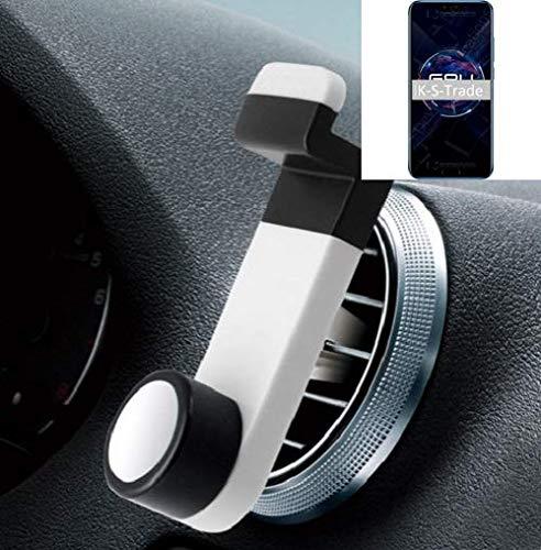 K-S-Trade® Smartphone Universal Holder Holder/Car Montaje/Parabrisas para El Huawei Honor 10 GT. Blanco. Titular De Teléfono De La Rejilla De Ventilación Se Puede Utilizar con Los Teléfonos: Amazon.es: Electrónica