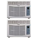 Haier Home/Office Energy Star Window Air Conditioner 5,100 BTU AC Unit (2 Pack)