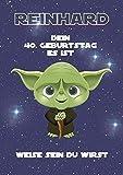 Geburtstagskarte personalisiert für Mann oder Frau als Geschenk in DinA4 - Motiv: Star Wars (hier 40) | Geschenke zum Geburtstag für Männer (Jahrgang (60/50 Jahre) | Als Klappkarte oder Kunstdruck