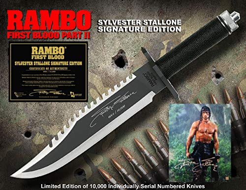 RAMBO 2 - First Blood Part II Messer - Master Cutlery - lim. Signature Edition (Sylvester Stallone) in