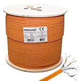 PremiumX 500m CAT 7 Netzwerkkabel Simplex LAN-Kabel Ethernet Datenkabel S/FTP PiMF Eca Verlegekabel Installationskabel Cat.7