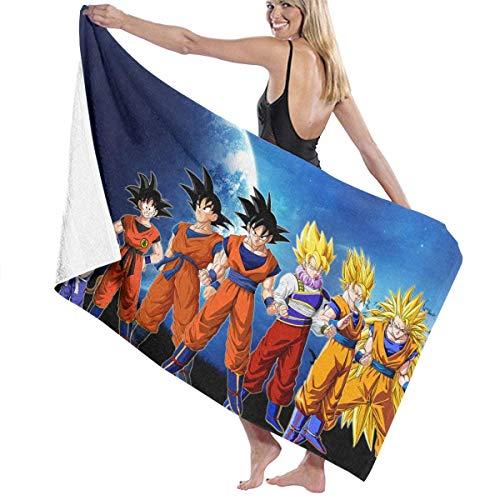 AGSIGGS Dragon Ball Z Goku Toalla de playa de algodón absorbente toallas de baño de secado rápido para mujeres, niños