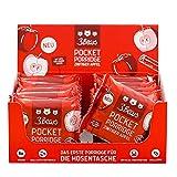 3Bears Pocket Porridge Zimtiger Apfel 16 x 55g I Veganer Haferriegel To-Go I Haferflockenriegel für ein gesundes, kalorienarmes Frühstück | Leckerer Powerbar mit 36% Hafer & 159 kcal pro Portio