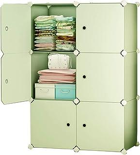 wardrobe FANJIANI Armoire de rangement amovible en plastique avec compartiments pour vêtements, chambre à coucher, maison,...