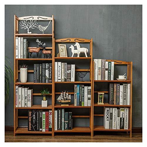DEALBUHK Estante de madera maciza, estantería de exhibición de libros elegante, estante de estar de pie, organizador de almacenamiento de cocina para libros y revistas Decoración ideal para hogar, ofi