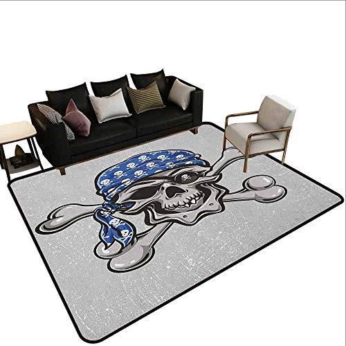 MsShe Outdoor tapijt Schedel, Hoofd Bones Print op Kleurrijke Geometrische Driehoek Achtergrond, Aarde Geel Jade Groen en Roze