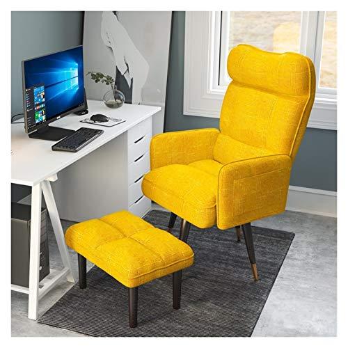JMXAFMY Silla para juegos, silla de ordenador, para el hogar, próspera, sedentarismo, respaldo, silla de juego, dormitorio, sofá, silla de oficina (color: amarillo 2)
