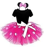 Kleines Mauskostüm - Kleid - Kostüm - Minnie - Body - Tutu - Tüll - Stirnband - Karneval -...