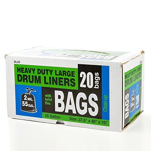 HBC Drum Liners for Pond, 55-Gallon , 20 bags