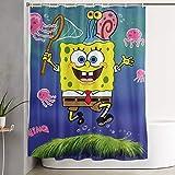 Meirdre Stilvoller Duschvorhang mit Spongebob Jagd Quallen Bedruckt, wasserdicht, 152,4 x 182,9 cm